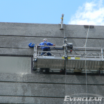 Pressure Washing from Stage