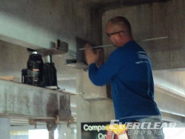 Parking Structure Restoration Bearing Pad Replacement